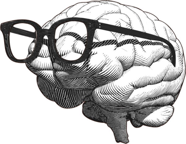Our Experts - Brain with glasses graphic